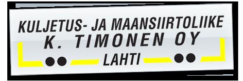 Kuljetus-ja Maansiirtoliike K. Timonen Oy